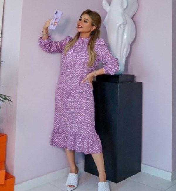 فستان نهى باللون البنفسجي
